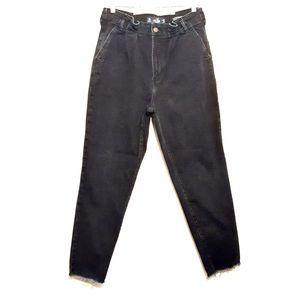 HOLLISTER womens mom jeans 27x27 black high rise